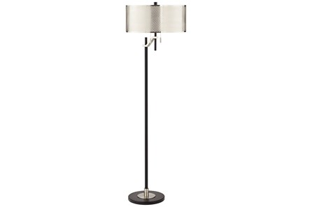 Floor Lamp-Mesh Silver Shade - Main