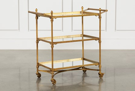 Halen Mirrored Bar Cart