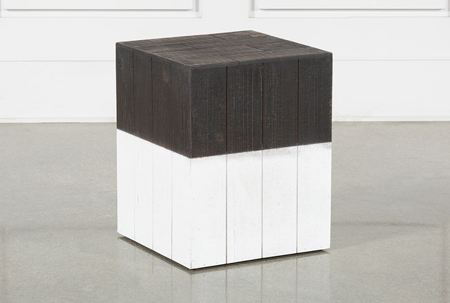 Wooden Square Stool - 360