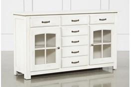 Jamestown White 62 Inch Cabinet