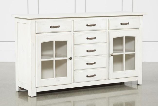 Jamestown White 62 Inch Cabinet - 360