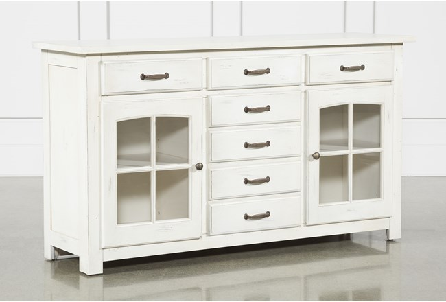 Jamestown White 62 Inch Cabinet - 360
