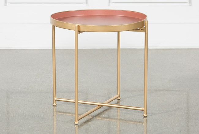 Red Short Accent Table - 360