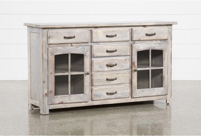 Jamestown Grey 62 Inch Cabinet - 360