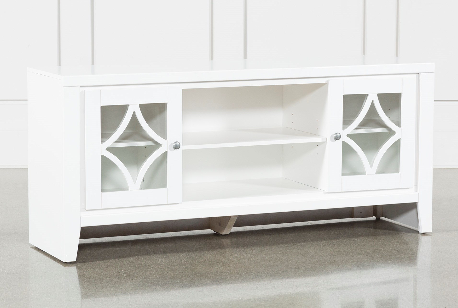 Century White 60 Inch Tv Stand Living Spaces
