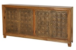 Brass Brocade 4 Door Sideboard