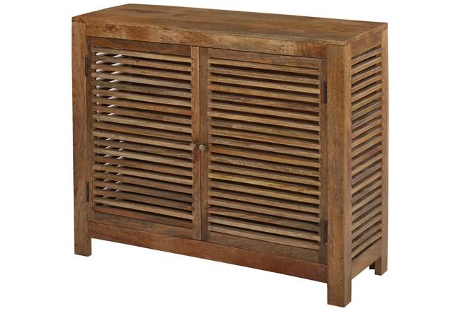 Light Wood Shutter 2 Door Cabinet - 360
