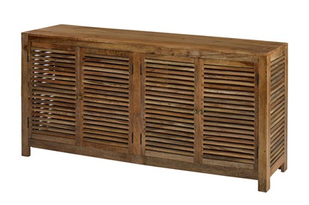 Light Wood Shutter 4 Door Cabinet