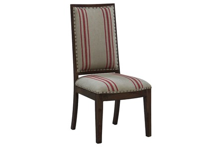 Red Stripe Dining Chair
