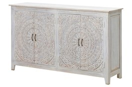 "Carved Lace 4 Door 68"" Sideboard"