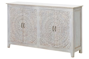 """Carved Lace 4 Door 68"""" Sideboard"""