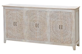 Carved Lace 6 Door Sideboard