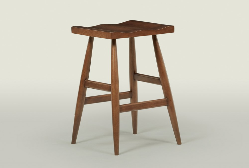"Walnut 28"" Bar Stool"