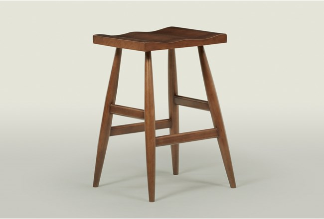 "Walnut 28"" Bar Stool - 360"