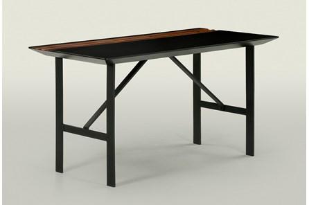 Black And Walnut Writing Desk