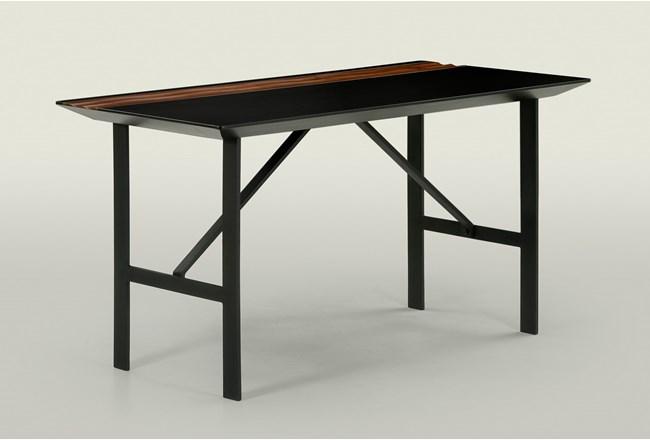 Black And Walnut Writing Desk - 360