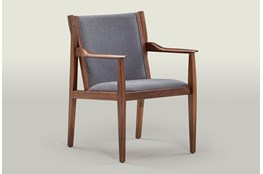 Grey & Walnut Arm Chair