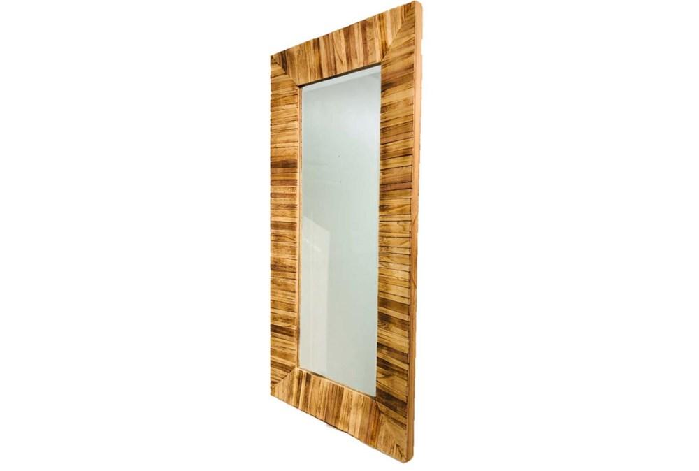 Wall Mirror-Light Reclaimed Wood 24X48