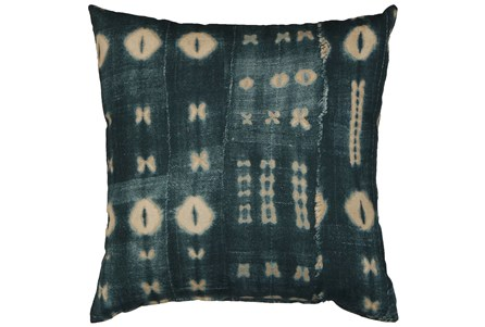Accent Pillow-Indigo Mudcloth 18X18