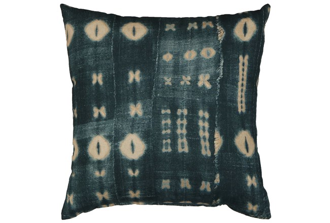 Accent Pillow-Indigo Mudcloth 18X18 - 360