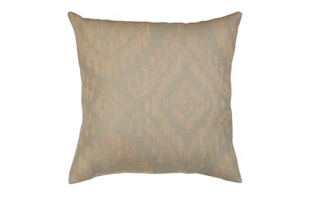 Accent Pillow-Ikat Light Blue 18X18