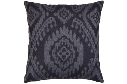 Accent Pillow-Ikat Dark Indigo 18X18
