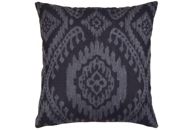 Accent Pillow-Ikat Dark Indigo 18X18 - 360