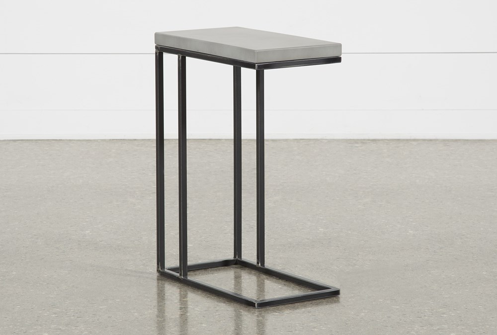 Niles Cement Chairside Table