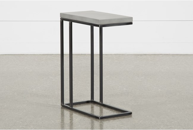 Niles Cement Chairside Table - 360