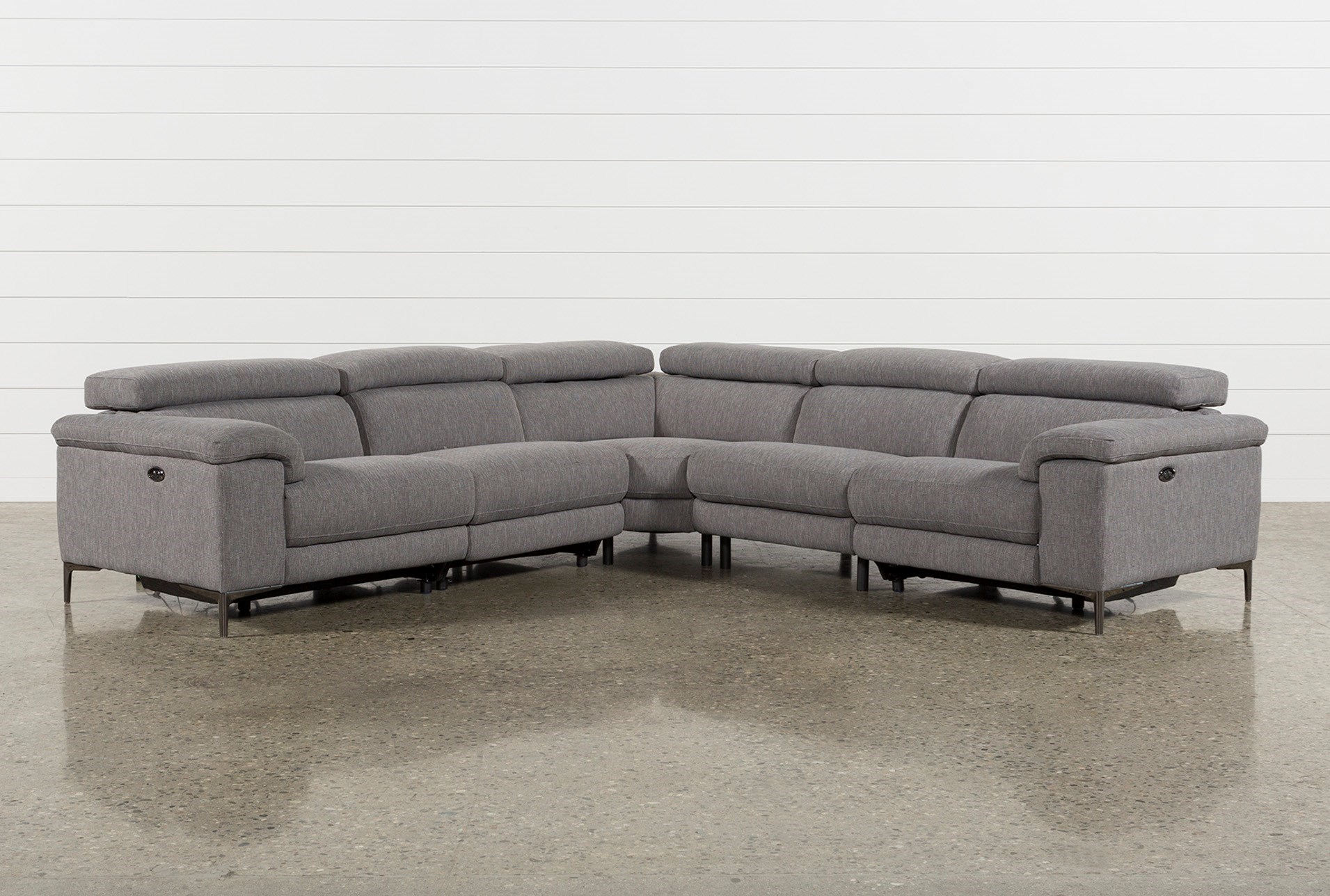 Talin grey ii 5 piece power reclining sectional qty 1 has been successfully added to your cart