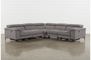 Talin Grey II 5 Piece Power Reclining Sectional