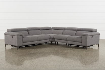 Terrific Talin Grey Ii 5 Piece Power Reclining Sectional Caraccident5 Cool Chair Designs And Ideas Caraccident5Info