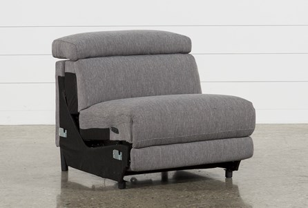 Talin Grey II Armless Power Recliner With Ratchet Headrest