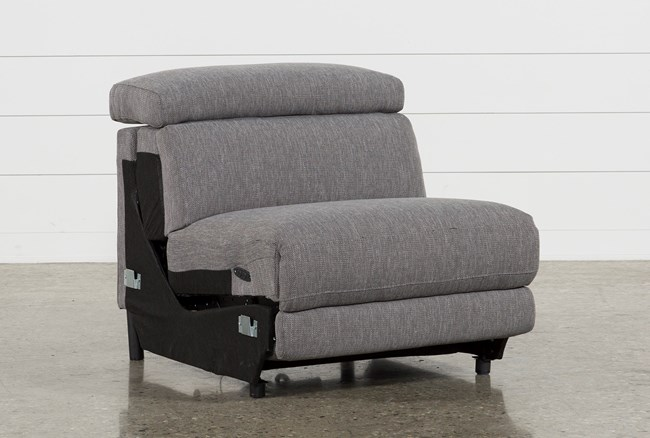 Talin Grey II Armless Power Recliner With Ratchet Headrest - 360
