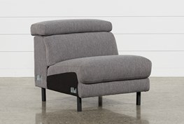 Talin Grey II Armless Chair With Ratchet Headrest