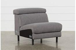 Talin Grey II Armless Chair With Ratchet Headrest