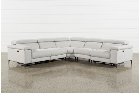 Talin Linen II 5 Piece Power Reclining Sectional