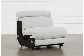 Talin Linen II Armless Power Recliner W/ Ratchet Headrest