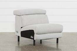 Talin Linen II Armless Chair W/ Ratchet Headrest