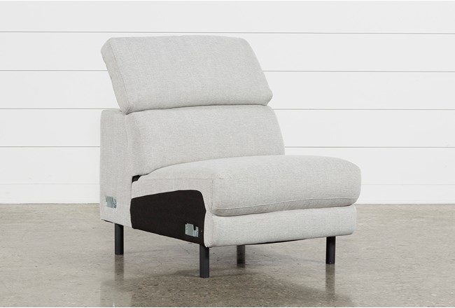 Talin Linen II Armless Chair W/ Ratchet Headrest - 360