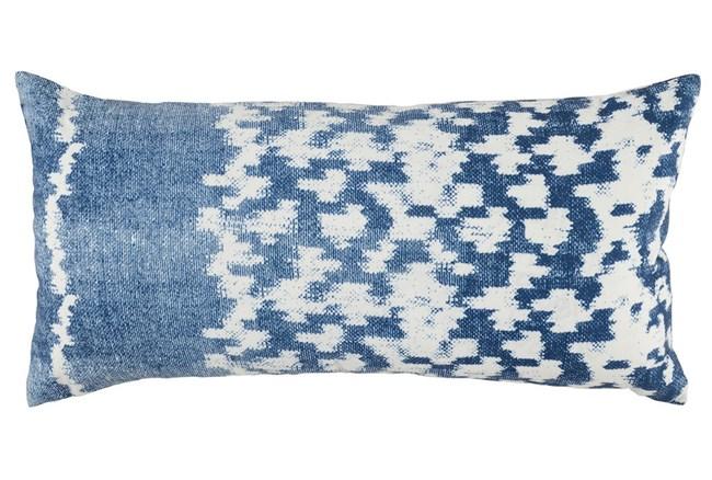 Outdoor Accent Pillow-Outdoor Indigo Blue Side Band 12X24 - 360