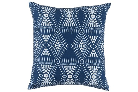 Outdoor Accent Pillow-Outdoor Kauai Indigo Blue 18X18