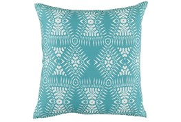 Outdoor Accent Pillow-Outdoor Kauai Aqua 18X18