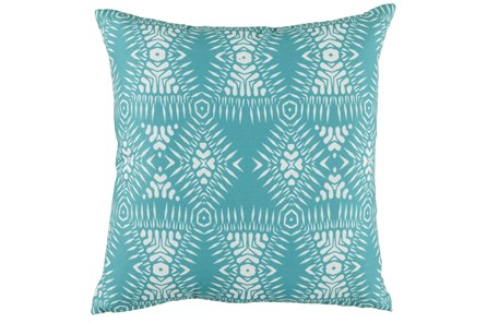 Outdoor Accent Pillow-Outdoor Kauai Aqua 18X18