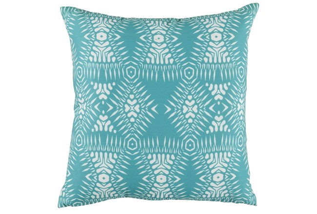 Outdoor Accent Pillow-Outdoor Kauai Aqua 18X18 - 360