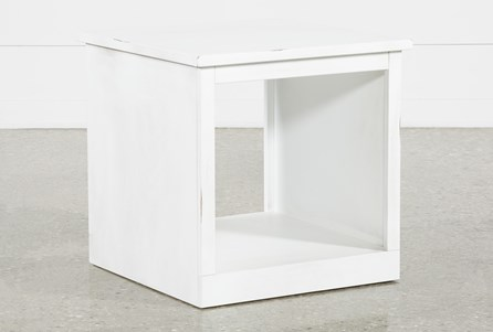Noah White End Table
