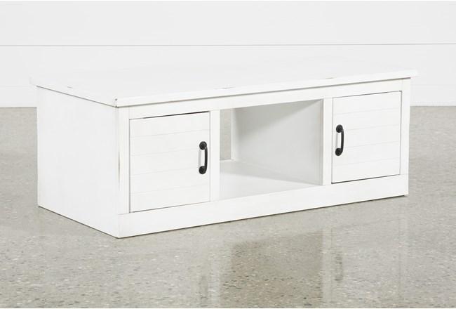 Noah White Coffee Table - 360