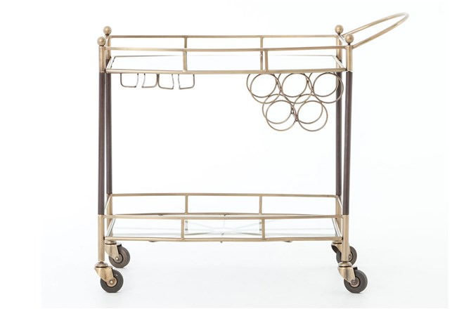 Antique Brass Bar Cart - 360