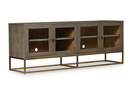 Grey Shagreen Media Console