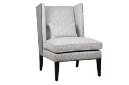 Chevron Pepperberry Accent Chair